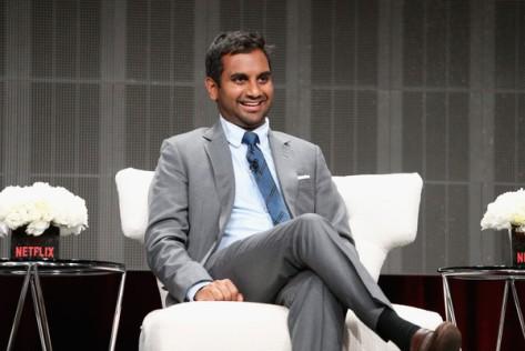 Aziz Ansari en el panel de Master of None.
