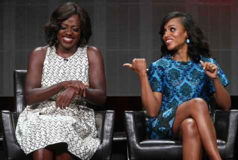 Violda Davis y Kerry Washington en el panel de TGIT (ABC).