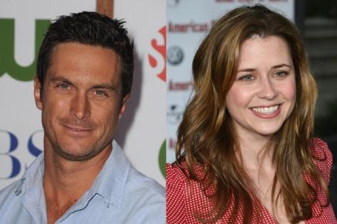 Oliver Hudson y Jenna Fisher.