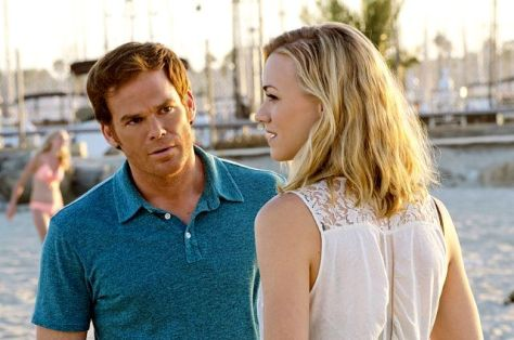 Dexter (Michael C.Hall) y Hannah McKay (Yvonne Strahovski).