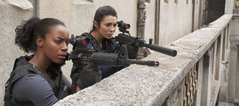 Milauna Jackson and Michelle Lukes on Cinemax's Strike Back.