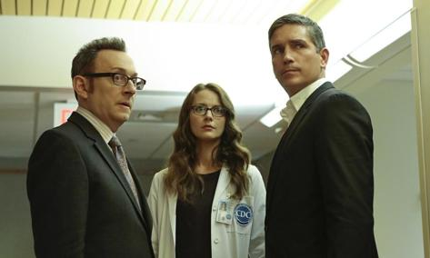 Michael Emerson, Amy Acker y Jim Caviezel (Person Of Interest).