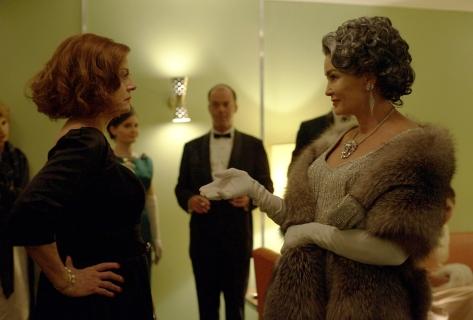 Susan Sarandon y Jessica Lange como Bette Davis y Joan Crawford.